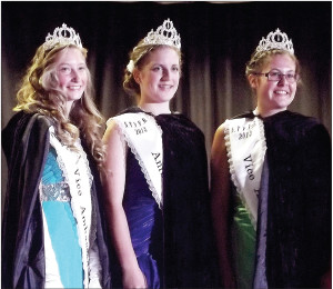 The North Thompson Fall Fair and Rodeo Association Ambassador Program is valley wide.  The current reigning Ambassadors for 2013/2014 are all from Clearwater.  Pictured: (l-r) Vice-Ambassador Cherie Witts, Ambassador Jenna Zietsov, and Vice-Ambassador Kendall MacKay.  All three girls reside in Clearwater.  Star/Journal File Photo.