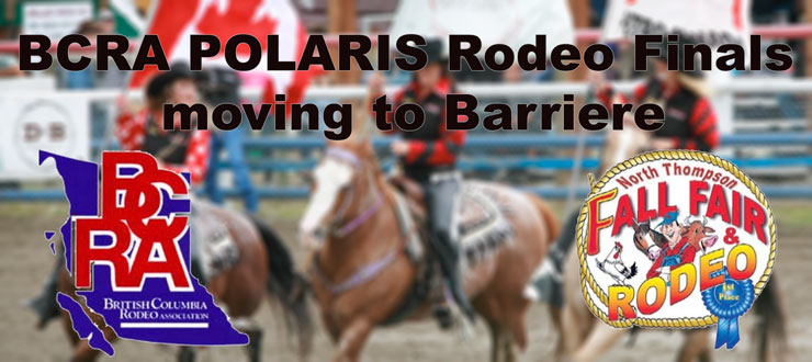 BCRA POLARIS Rodeo Finals moving to Barriere