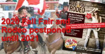 Fall Fair Postponded until 2021